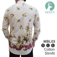 terlaris Baju Batik Slim Fit Pria Lengan Panjang | Kemeja Batik