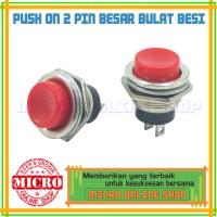 Switch Push On Besar Bulat / Saklar Push On Besar