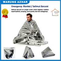 Peralatan Outdoor / Selimut Darurat / Survival Kit - Silver