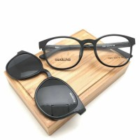 Paket Kacamata SWATCH CLIP ON + Lensa Minus Antiradiasi
