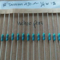 Resistor taiwan 470 ohm metal film 1/4 watt 1%