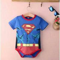 Romper Muscle Superman Jumper Bayi Baru Lahir Superhero Super Hero