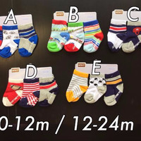SPESIAL MURAH Kaos Kaki (socks) carter 3 in 1 Boy 12-24 months