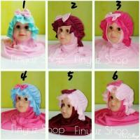 jilbab topi pita/jilbab bayi/jilbab anak/jilbab lucu