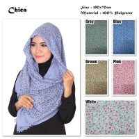 Chica   Bunga   Ombre Viscose   Hijab/Jilbab/Pashmina/Kerudung/Scarf