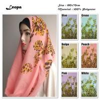 Leopa   Tutul Leopard   Ombre Viscose   Hijab/Jilbab/Pashmina/Kerudu