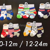 SUPER DISKON Kaos Kaki (socks) carter 3 in 1 Boy 6-12 months