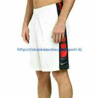 Celana Basket Nike Elite Putih stripe merah