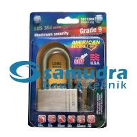 AMERICAN SECURE 60 mm Long Gembok Panjang Grade 9 SUS 304 Series