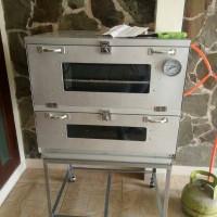 oven gas murah galvaloum 120x55 +termo via ekpedisi