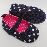 Sepatu Prewalker PW Anak Bayi Cewek Perempuan Biru Hitam Polkadot