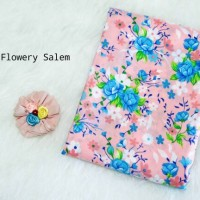 Kerudung Segiempat Motif Flowery Salem Jilbab Hijab Square Wolfis