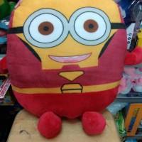 Boneka bantal guling minion superhero ironman