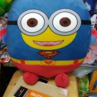 Bantal guling boneka minion superhero Superman