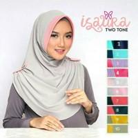 Kerudung jilbab instan isaura two tone