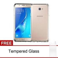 Samsung Galaxy J7 Prime Softcase Anti-Crack Tpu (Clear) +Tempered Glas