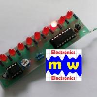 (sudah disolder) NE555+CD4017 Rangkaian Lampu Berjalan / running LED
