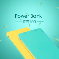 Robot RT9100 2 USB Ports 9000mAh Power Bank Yellow+Green #DAA348