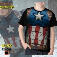 Kaos Tshirt Baju Anak Superhero Captain America Body