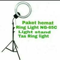 paket Hemat Ring Light NG-65 termasuk stand dan tas