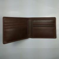dompet pria cowo lipat kulit asli warna coklat | bifold wallet