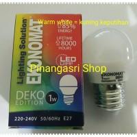 LED Ekonomat 1 watt WARM WHITE 1w / 1 w Bulb LED 1watt Lampu Tidur