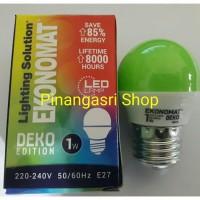 LED ekonomat 1 watt HIJAU 1w / 1 w Bulb LED 1watt Lampu Tidur