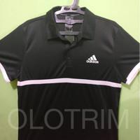 Kaos Court Polo Adidas Tennis Olahraga Futsal Badminton Sepakbola Ori