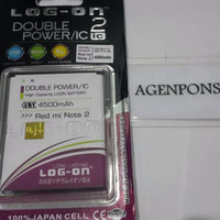 GREAT SALE Baterai Log On Xiaomi Redmi note 2 Double Power IC Batre Ba
