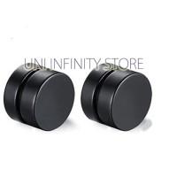 JWME0002 Anting Magnet Pria Wanita Cowok Cewek Black Magnetic Earrings