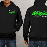 jaket Sweater jipper jumper Kawasaki ninja hijau i hate slow