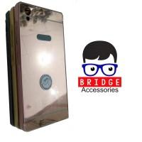 Infinix Hot 2 X510 Bumper Aluminium Metal Hard Case Mirror Back Case