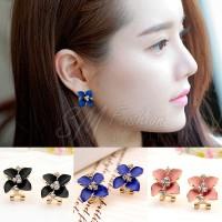 Anting Import Korea Bentuk Bunga Camellia Model Clip (Earring)