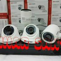 PAKET CCTV HIKVISION DVR 8CH + 4 CAM HDD Full HD 2MP ( Komplit Set )