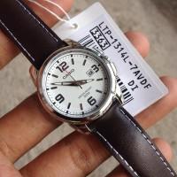 Jam Tangan Wanita Casio Strap Kulit Analog Casio Original LTP-1314L-7A