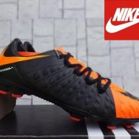 sepatu bola Nike Hypervenom III Hitam Orange KW Super