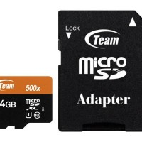Team MicroSD 64GB UHS-1 + Adapter Speed 500x ( 80Mbps )