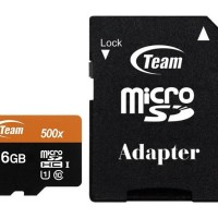 Team MicroSD 16GB UHS-1 + Adapter Speed 500x ( 80 Mbps )