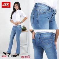 Celana Panjang Cutbray Jeans Wanita Bootcut Denim JSK JEANS IMPORT - Navy, 29