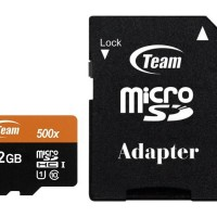 Team MicroSD 32GB UHS-1 + Adapter Speed 500x ( 80 Mbps )
