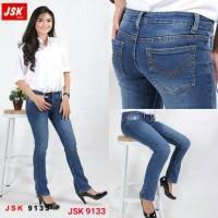 Celana Panjang Cutbray Jeans Wanita Denim Bootcut Basic JSK JEANS - Biru, 29