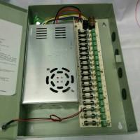 Power suply cctv 12v 30a + box safety