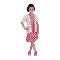 Set Kebaya-Rok Katun Anak Kids Batik-KRAK1-Merah-Oktovina-HouseOfBatik