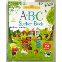 Usborne Farmyard Tales - ABC Sticker Book, Buku Import Aktivitas Anak