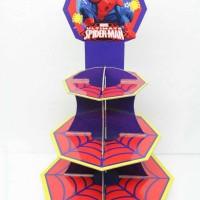 cupcake stand spiderman marvel / spiderman cupcake stand 3 tier