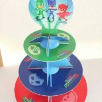 cupcake stand pj mask / rak cupcake pj mask 3 tier