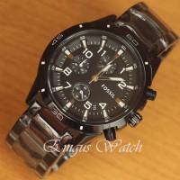 Jam Tangan Pria Fossil Chrono Classic Black Super premium