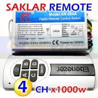 HQ - Saklar Remote 4x 1000w Wireless Switch AC 220v 4 Channel RF Remot
