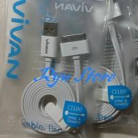 spesial Kabel Data dan Charger iPhone 4 4S , ipad 2 3 Vivan 100cm