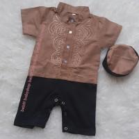 COFFEE Pakaian Muslim Anak Set Peci Baju Koko Bayi Koko Kids